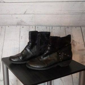 Aerosoles Women's Boots Size 9.5 Black Zipper Boot